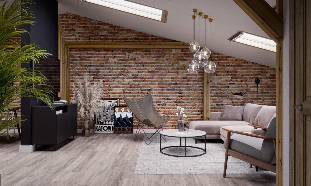 Zdjęcie z bloga Design your home - salon na poddaszu