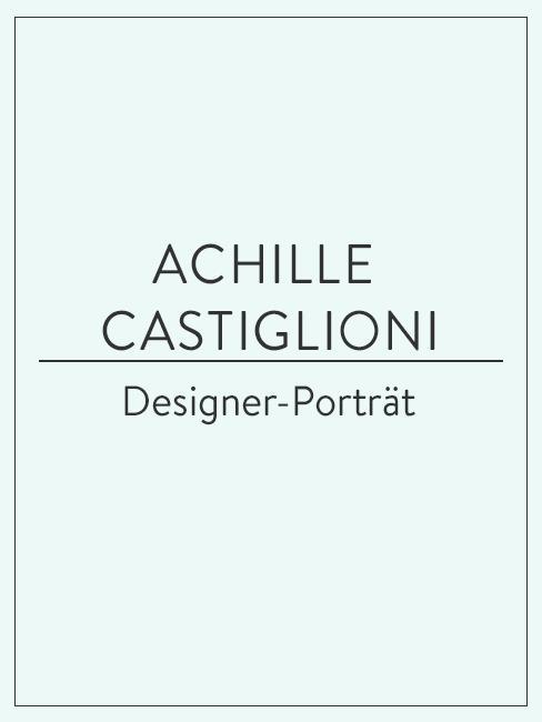 Designer-Porträt über Achille Castiglioni