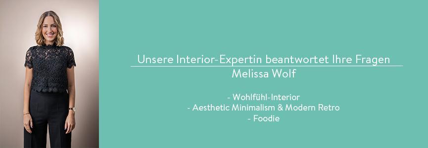 Interior Expertin Melissa Wolf beantwortet Fragen zu den Trendmaterialien Samt und Seide