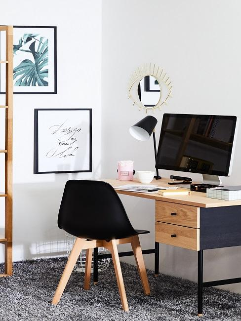 Arbeitsraum im Scandi Style.