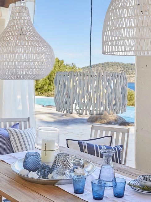 Ibiza Style weiße Deko und Lampen