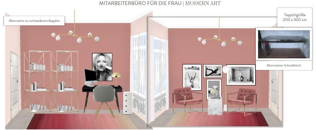 Büro einrichten Modern Art Frau
