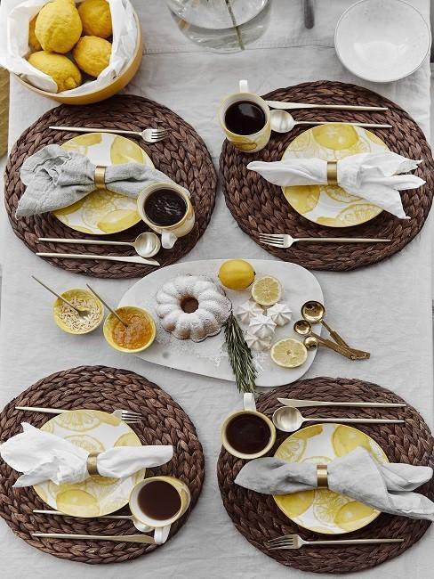 Zitronen Deko Esstisch Schale