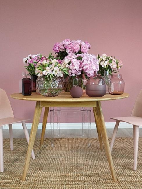 Tischdeko Rosa Blumen