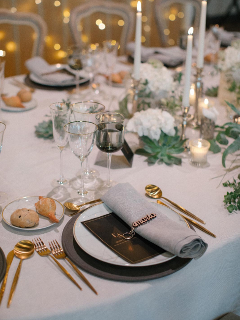 Mesa de bodas elegante