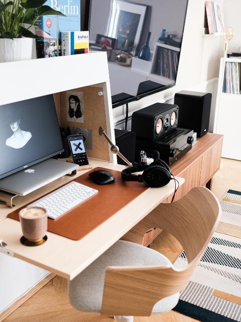 Petit bureau avec tablette pliante pour petit espace