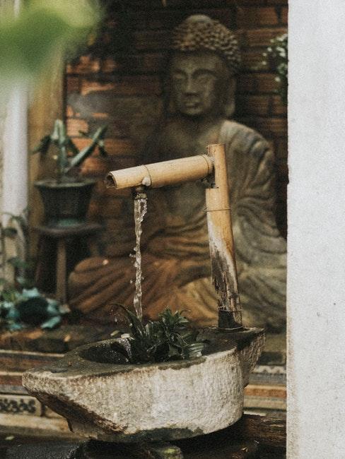 fontaine zen en bambou