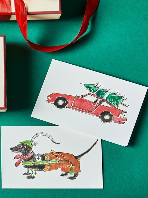 DIY carte de voeux de Noël