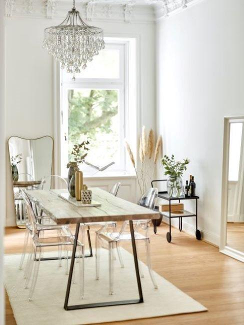 philippe starck ghost chair sala da pranzo