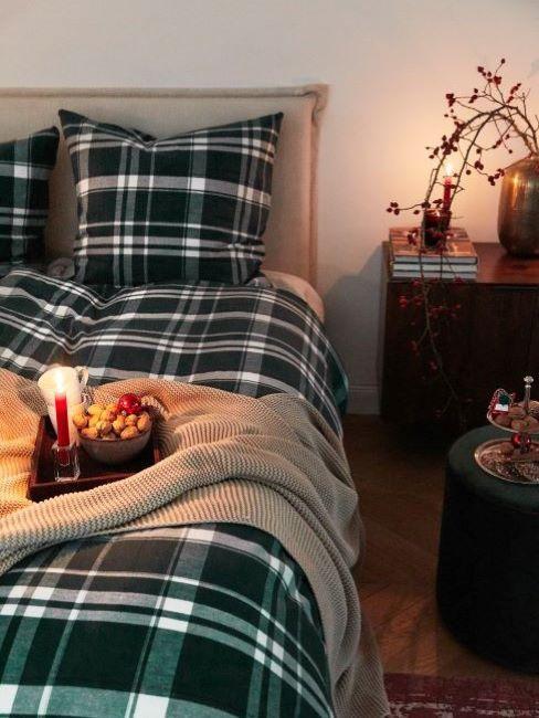 decorare camera da letto per natale