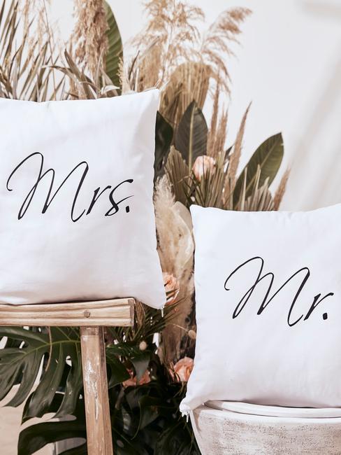 Dekoracja weselna z trawy pampasowej w stylu boho