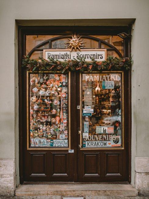 Sklep z pamiątkami w Krakowie