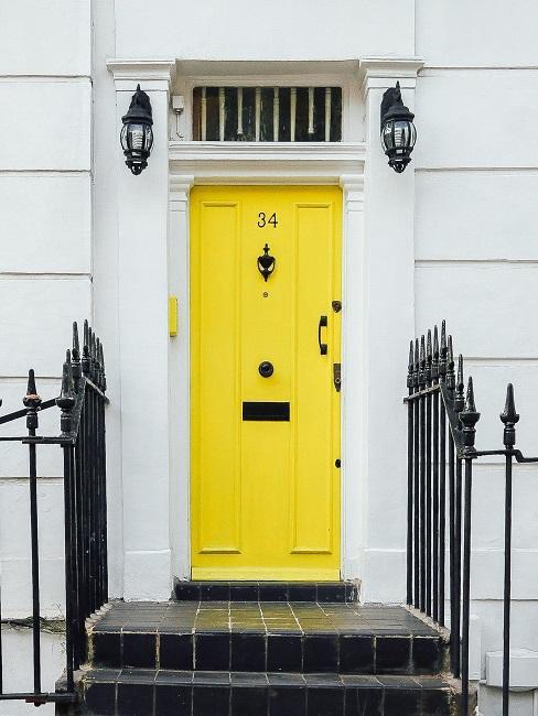Tür abdichten gelbe Außentür