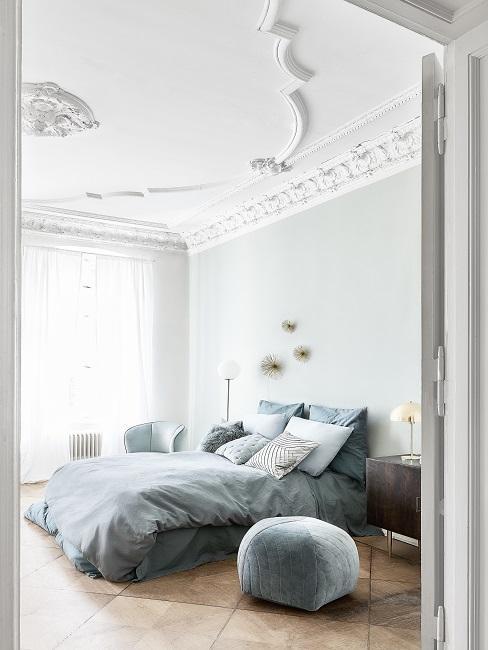 Luxus Wohnung einrichten Schlafzimmer Wandgestaltung
