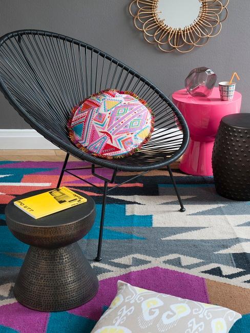 Ethno Style Teppich mit Acapulco Sessel und Kissen