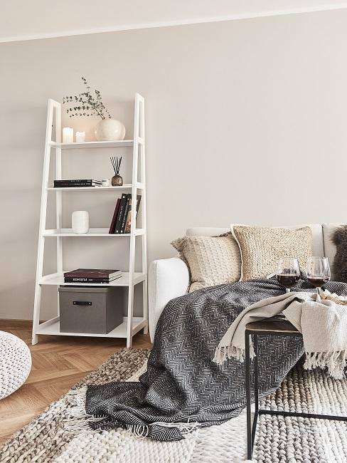 Hygge Wohnzimmer in beige
