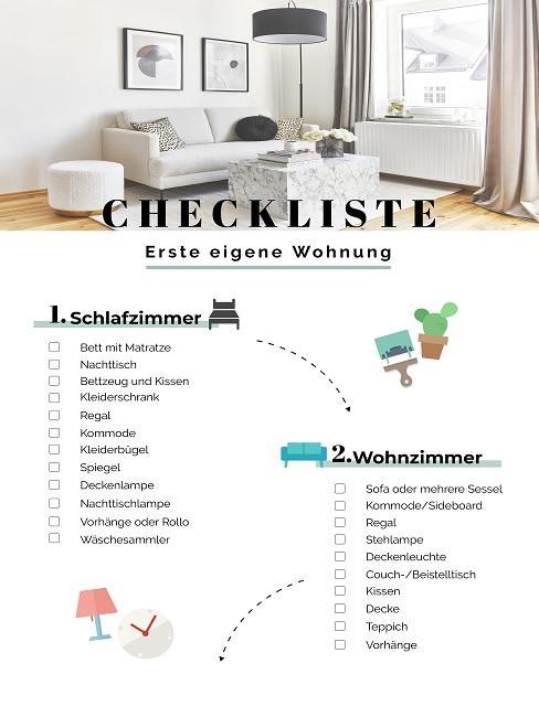 Checkliste Erste eigene Wohnung