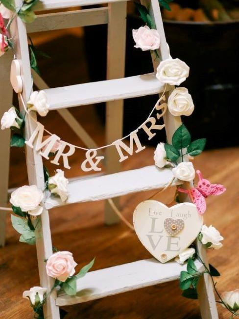Escalera deco boda