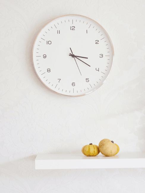 Orologio da parete bianco