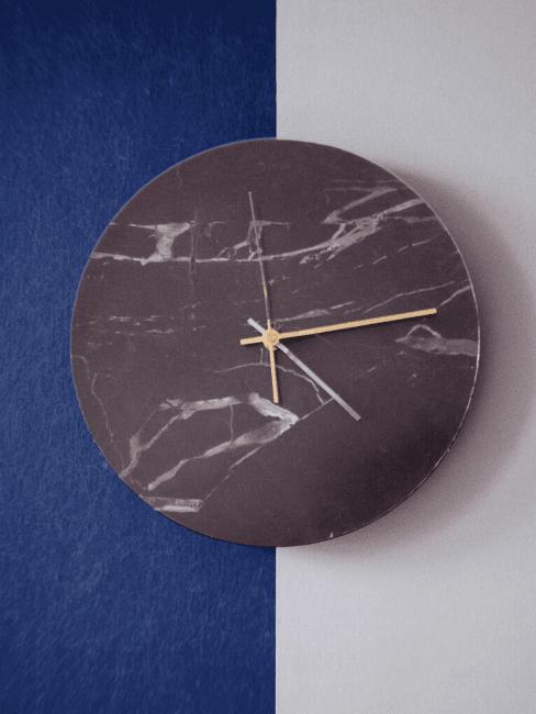 Orologio da parete effetto marmo nero