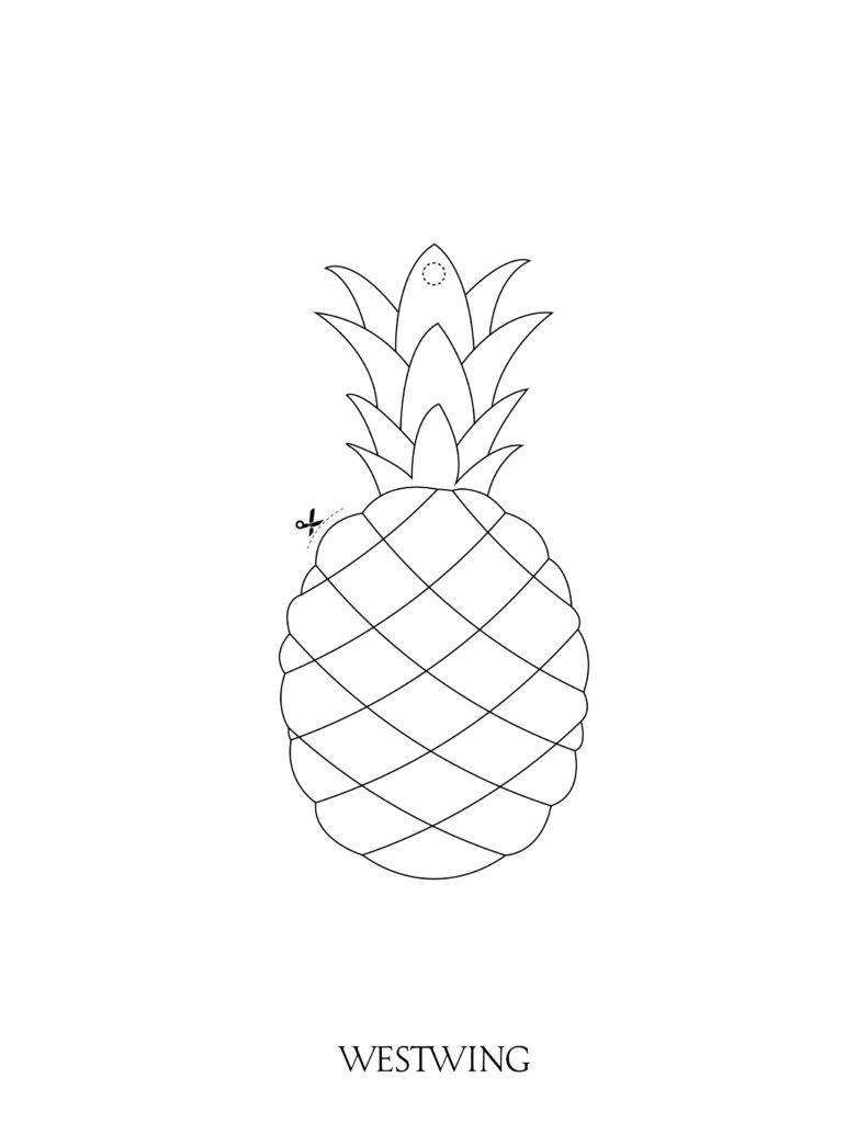 ananas da colorare