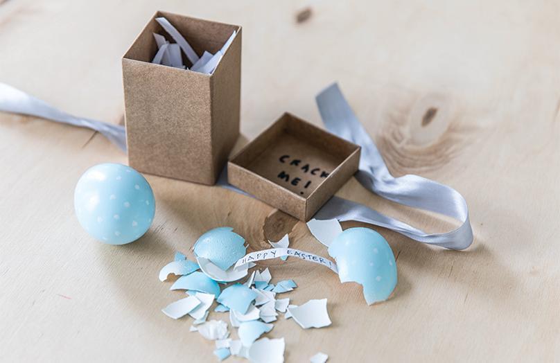 DIY: Velikonoční přání schované ve vajíčku