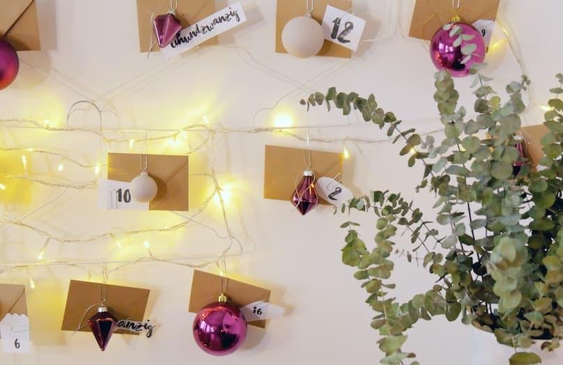 DIY Adventní kalendář z ramínek