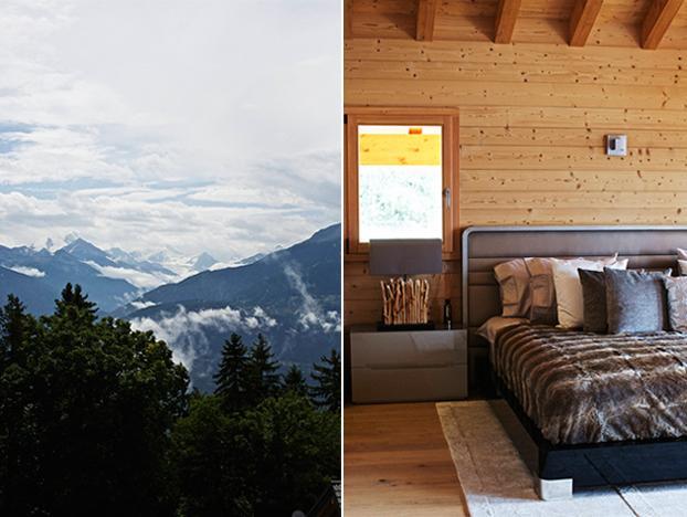 Un chalet en los Alpes suizos