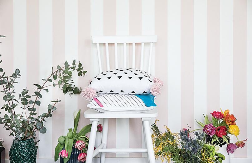 Federe dipinte a mano per cuscini di design
