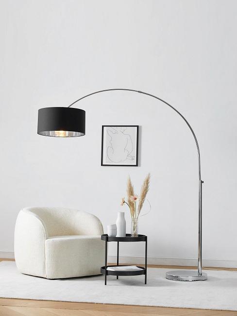 Japando Sessel mit Beistelltisch und Stehlampe
