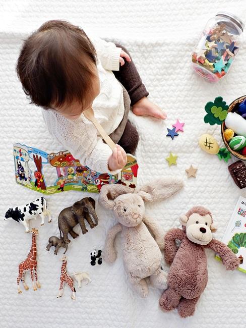 Geschenke zum 1. Geburtstag Baby mit Spielzeug