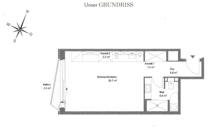 Kleines Appartment einrichten Grundriss