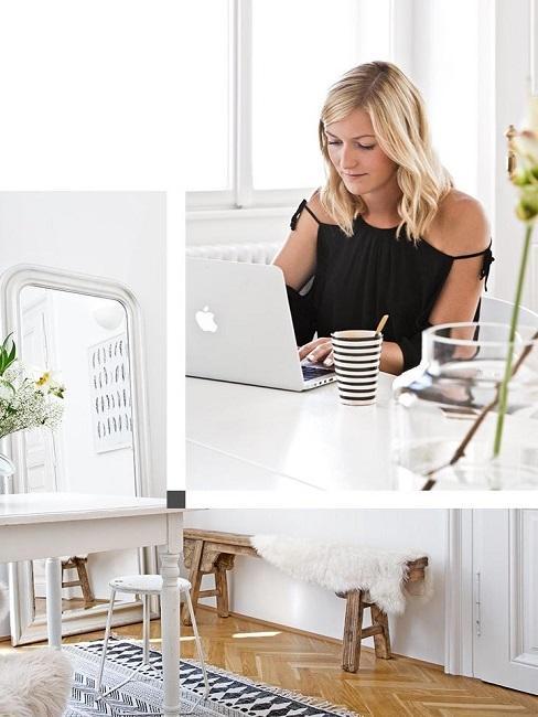 Traumzuhause Svenja Brucker Tisch Laptop