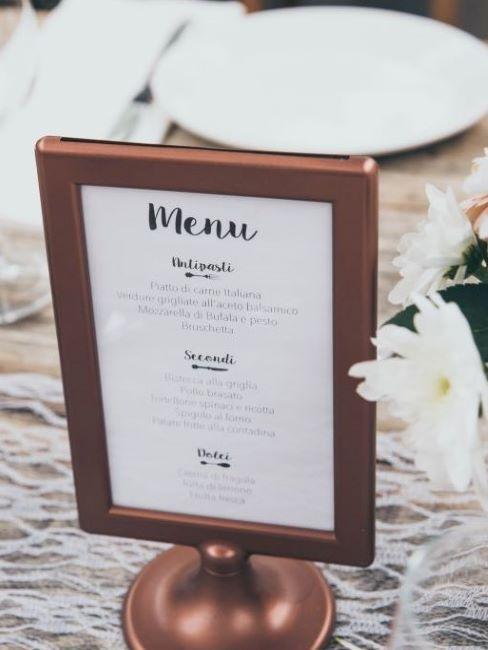 menu matrimonio stand