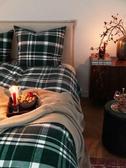 decorare camera da letto per natale