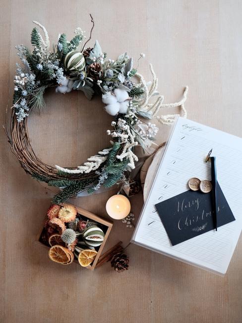Zbliżenie na dekoracje świąteczne