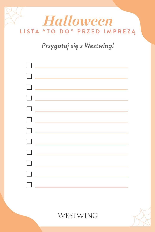 Checklista Westwing na przygotowanie przyjęcia na halloween