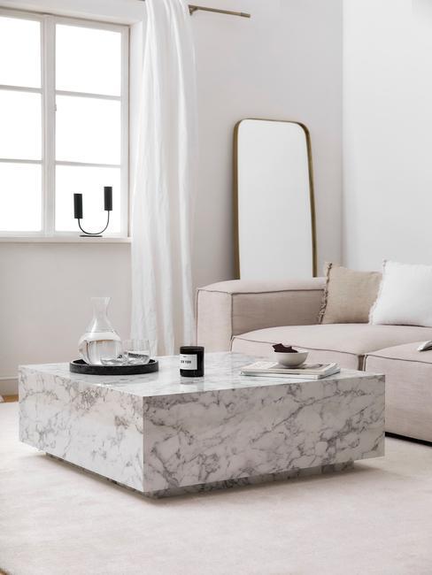 Minimalismus v obýváku ve skandinávském stylu 2
