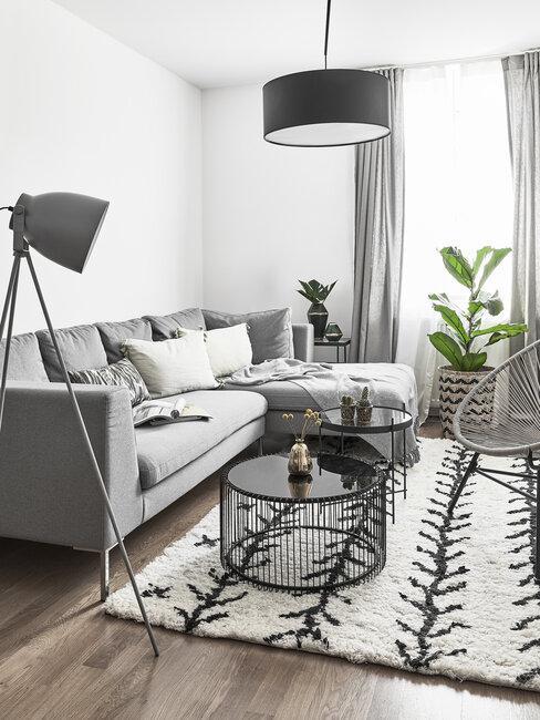 šedý obývák ve skandinávském stylu 2