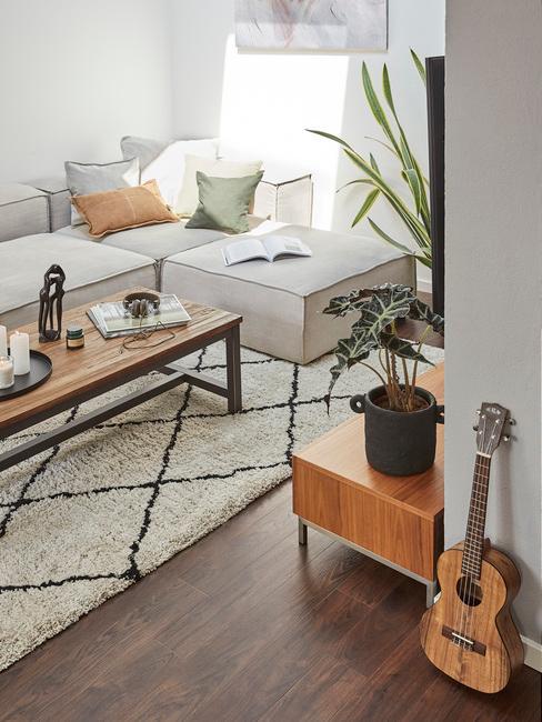 Obývací pokoj v paneláku 14