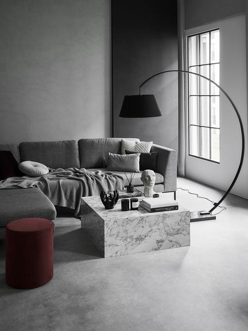 Obývací pokoj v paneláku 1-