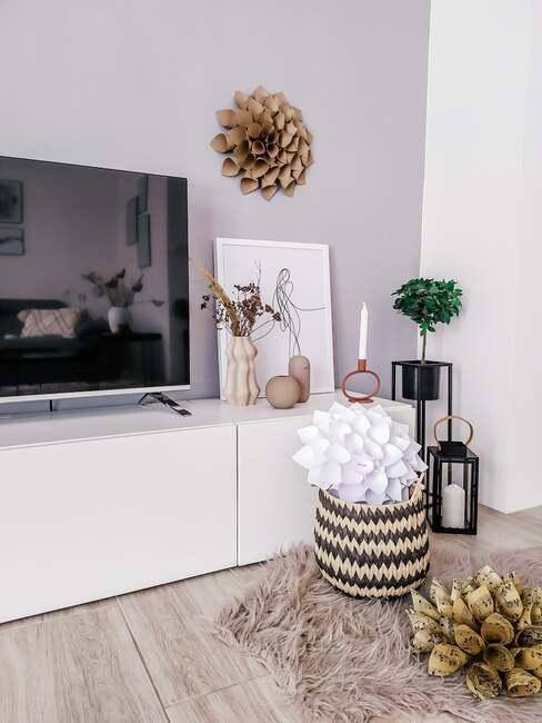 Ukázka interiérového designu obývacího pokoje.