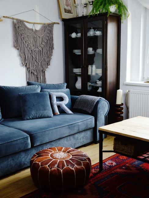 Obývací pokoj s dekorací