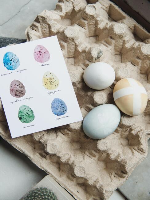 Velikonoční přání vajíčka