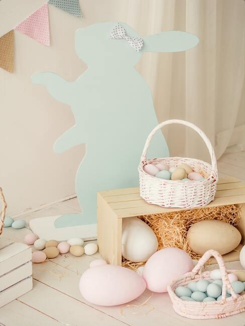 velikonoční pastelové dekorace