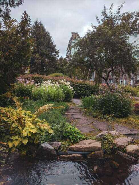 zahrada s jezirkem