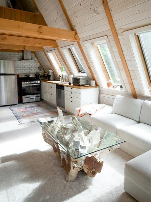 podkrovní Kuchyně-v-rustikalnim-stylu-
