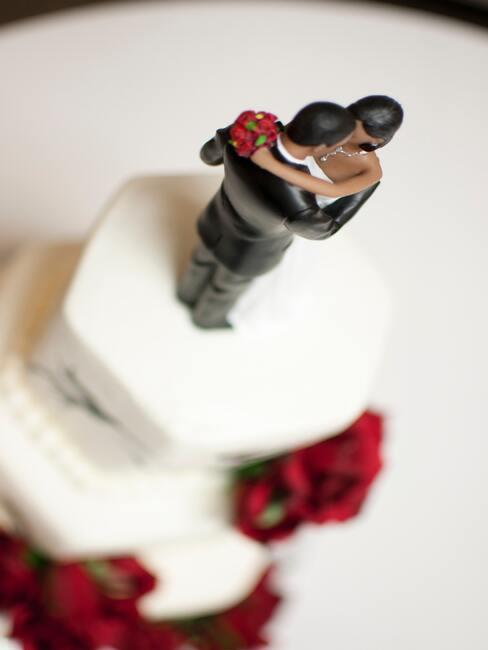 Svatební dekorace na dort 01