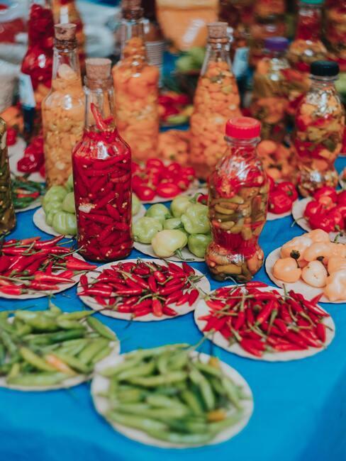 různé odrůdy chilli 02