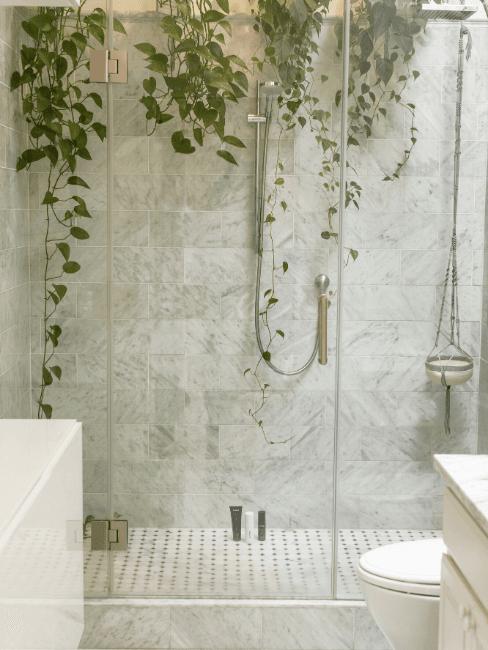 Koupelna v přirodním stylu inpsirace